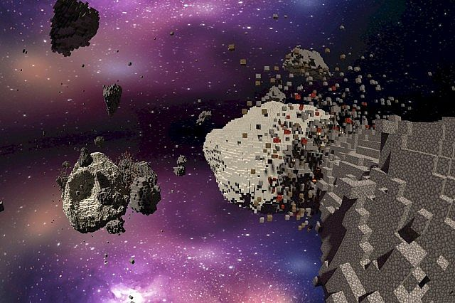 Asteroid chaos space minecraft building ideas 4