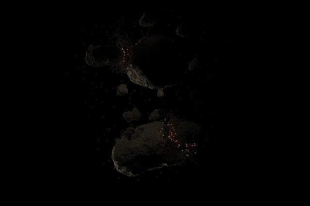 Asteroid chaos space minecraft building ideas 5