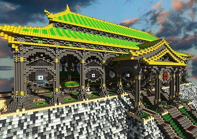 Ba Sing Se Monorail Station Avatar Cartoon minecraft ideas 2
