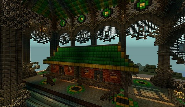 Ba Sing Se Monorail Station Avatar Cartoon minecraft ideas 8