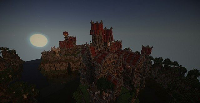 Castle Dravulkan minecraft building ideas 13