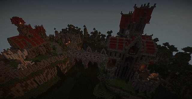 Castle Dravulkan minecraft building ideas 14