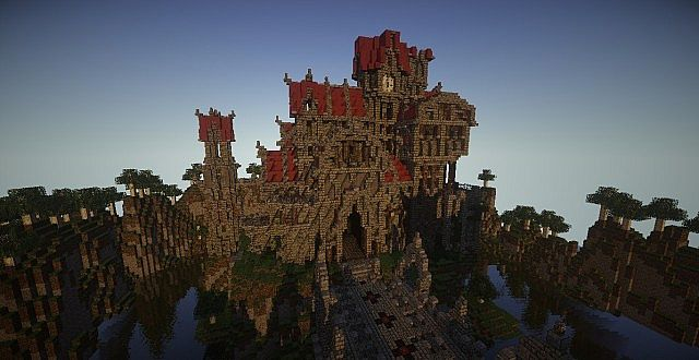 Castle Dravulkan minecraft building ideas 2