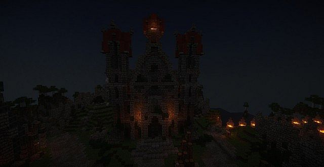 Castle Dravulkan minecraft building ideas 4