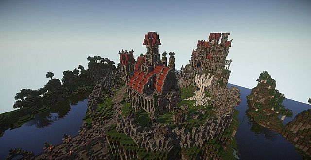 Castle Dravulkan minecraft building ideas 5