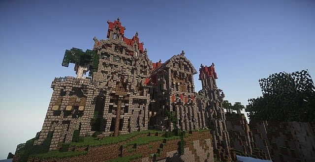 Castle Dravulkan minecraft building ideas 8