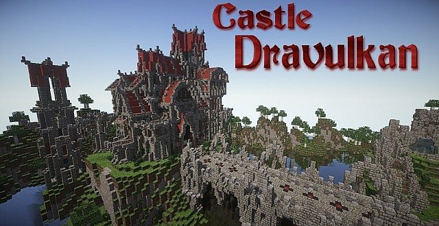 Castle Dravulkan minecraft building ideas