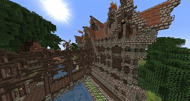 Centerfield Castle minecraft building ideas medieval 5