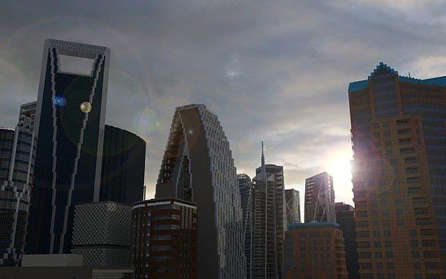 Echo Tower skyscraper city minecraft building ideas 2