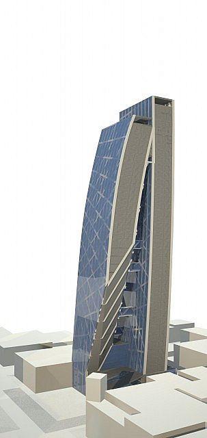 Echo Tower skyscraper city minecraft building ideas 9