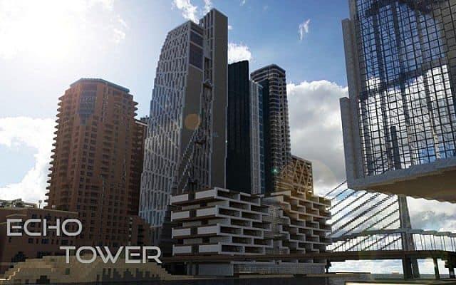 Echo Tower skyscraper city minecraft building ideas