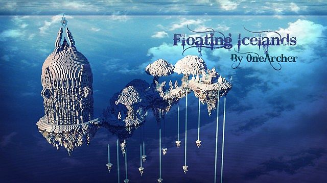Floating Icelands minecraft building ideas  2