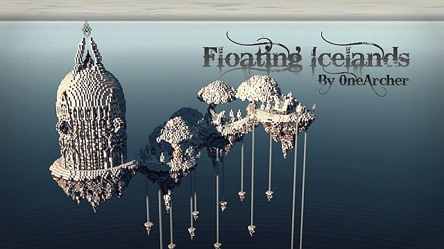 Floating Icelands minecraft building ideas
