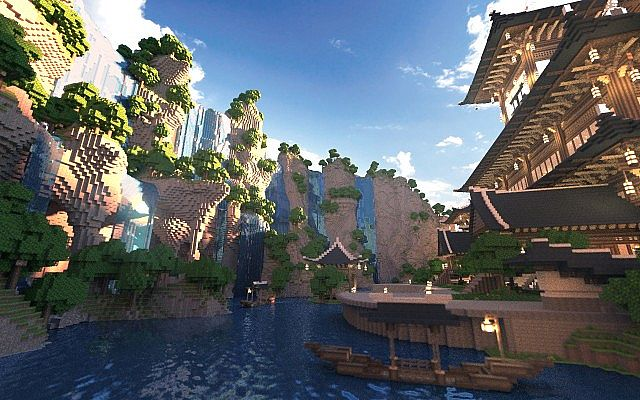 KOR) Oriental of Cantamo minecraft building city ideas 6