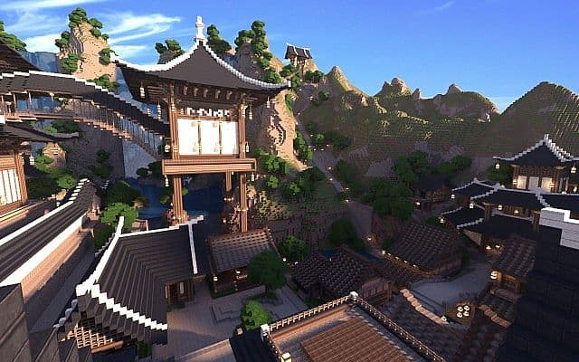 KOR) Oriental of Cantamo minecraft building city ideas 8