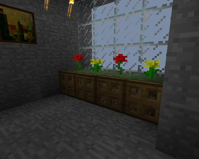 Large planters and flower pots minecraft building inc for Minecraft indoor decoration ideas