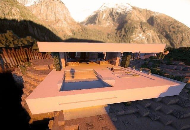 Leafv  Minimalist house Minecraft design building ideas 14