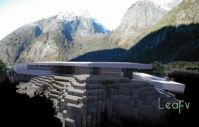 Leafv  Minimalist house Minecraft design building ideas