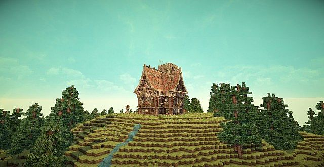 Medieval Mansion minecraft building ideas 10