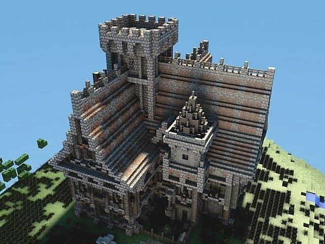 Medieval Mansion minecraft building ideas 2