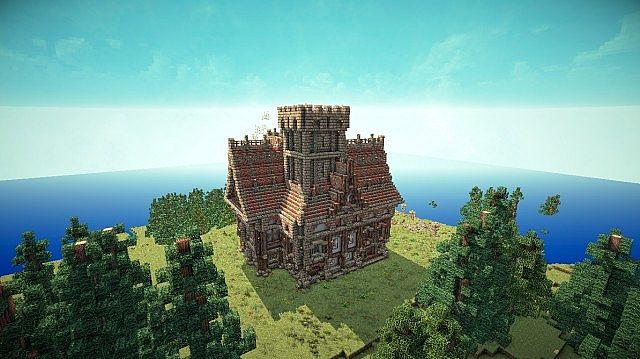 Medieval Mansion minecraft building ideas 4