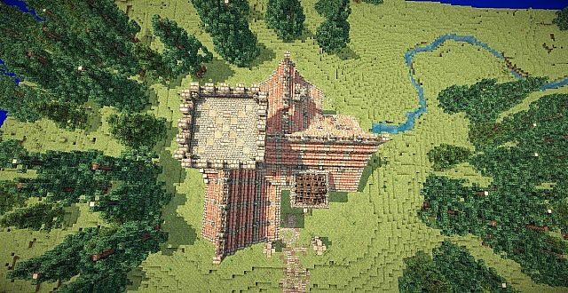 Medieval Mansion minecraft building ideas 5