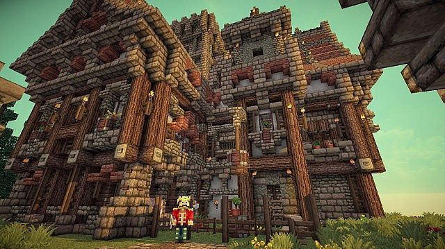 Medieval Mansion minecraft building ideas 6