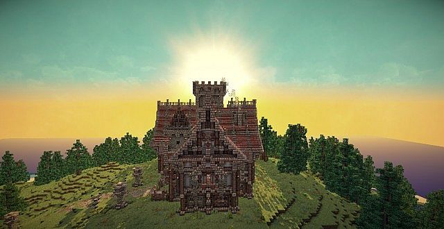 Medieval Mansion minecraft building ideas 7