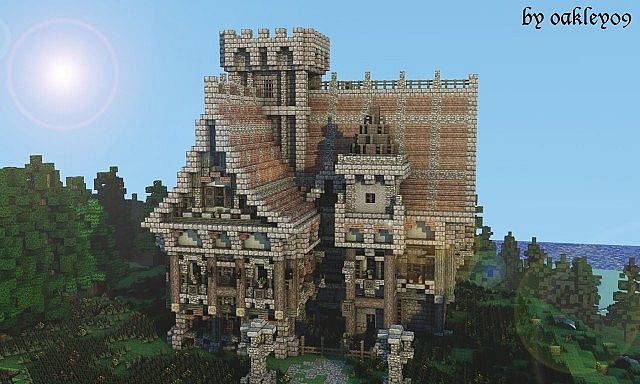 Medieval Mansion minecraft building ideas