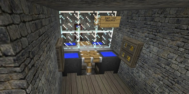 bathroom and mirror - Minecraft Design Ideas