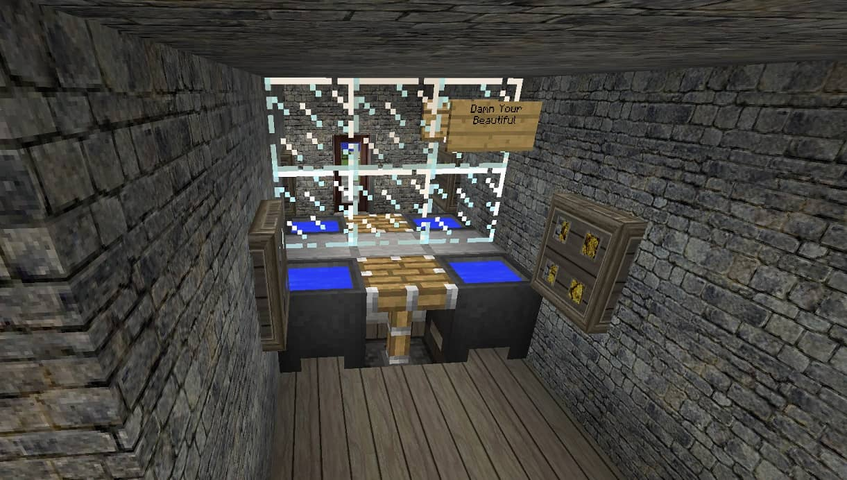 bathroom and mirror minecraft building inc - Minecraft Bathroom Designs