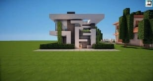 Minecraft House tutorial 13x13 modern