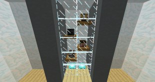Minecraft Trophy case shelves display