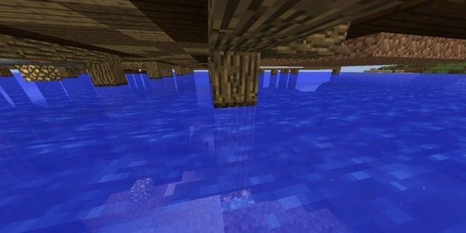 Use dark wood to make wood look wet minecraft ideas