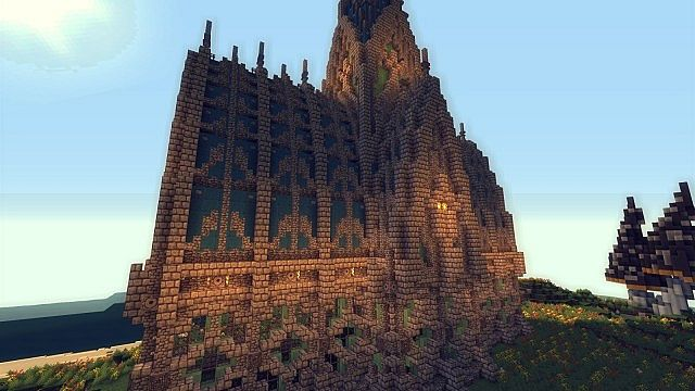 Mushroom Island Cathedral custom terrain minecraft building ideas 5