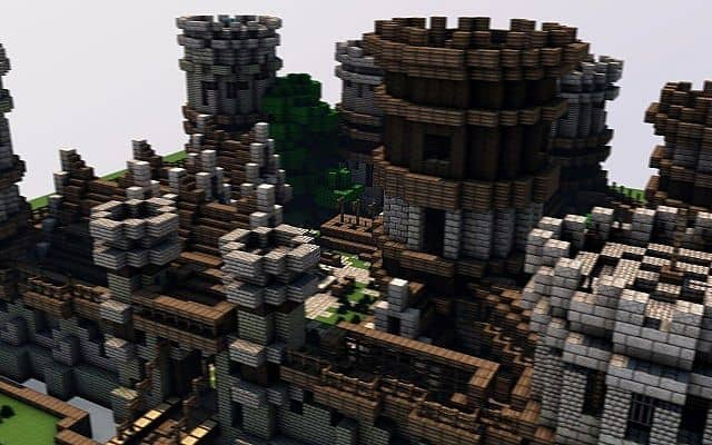 Old Castle minecraft building ideas 2