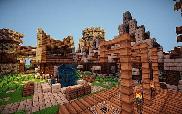Old Castle minecraft building ideas 5