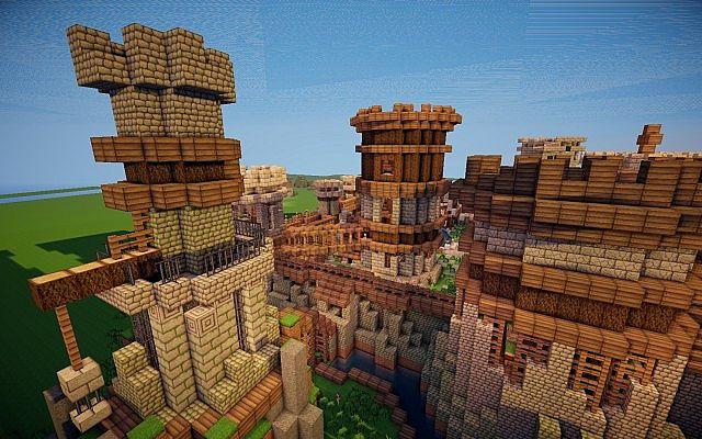 Old Castle minecraft building ideas 6