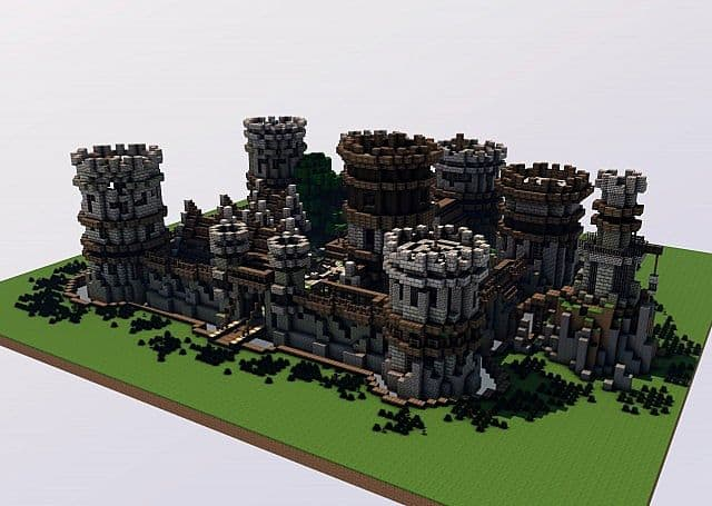 Old Castle minecraft building ideas