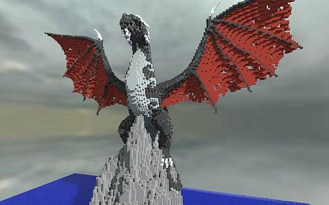 Ormir the Fearsome dragon minecraft builing ideas 3