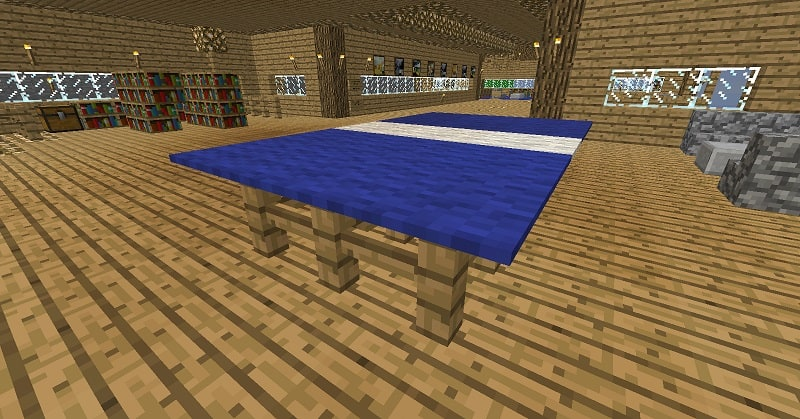 Ping Pong Table Minecraft design inside 3