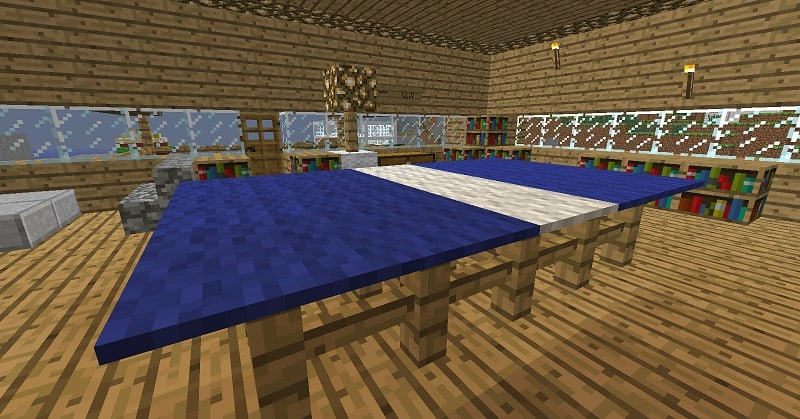 Ping Pong Table Minecraft design inside
