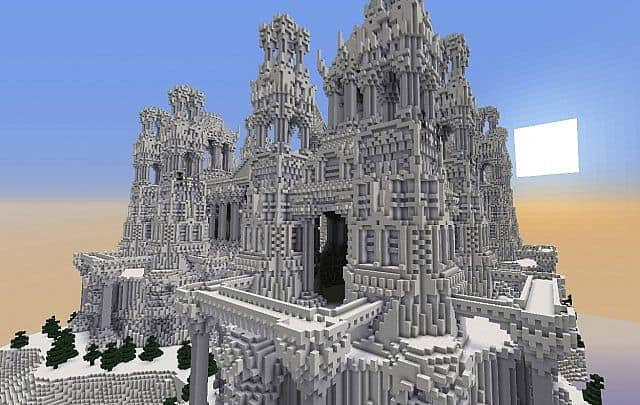 quartz castle island minecraft building inc