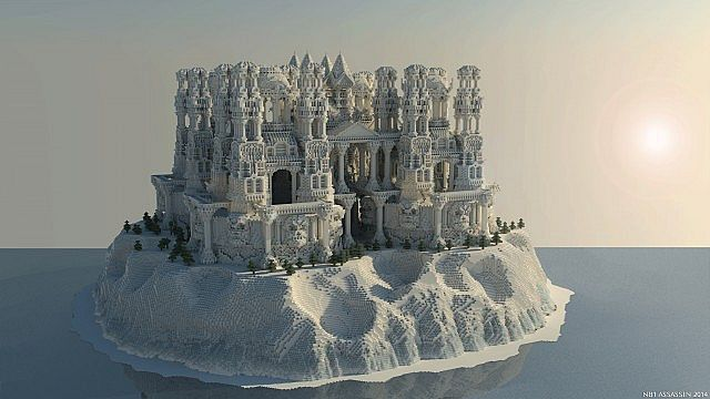 ... Quartz Minecraft Building Ideas Castle Island