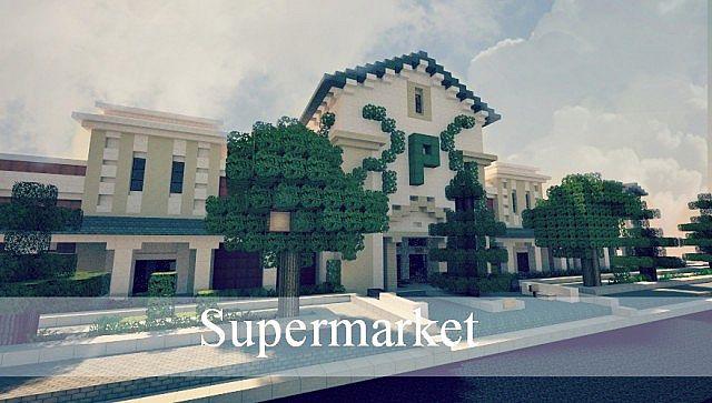 SuperMarket Minecraft building ideas shopping