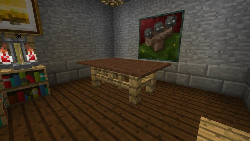 Table dinning room minecraft building inc for Minecraft house interior living room