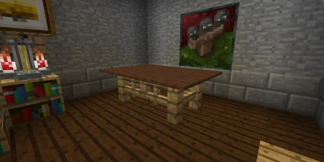 table minecraft building ideas interior decor - Minecraft Design Ideas