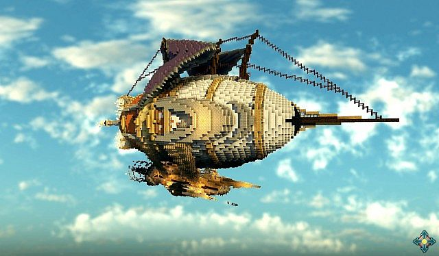 The Marvelous Glacier Steampunk Airship minecraft building ideas 2