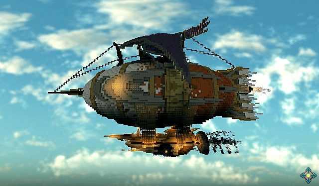 The Marvelous Glacier Steampunk Airship minecraft building ideas 3