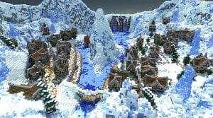 Winters secret village minecraft building ideas town